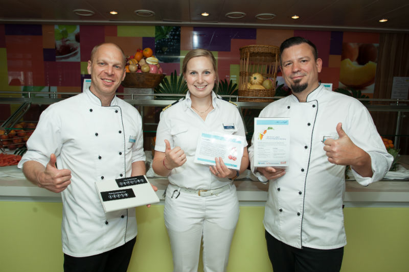 Felix Kunze (Culinary Trainer, Jasmin Hubel (Environmental Officer) und Gregor Raimann