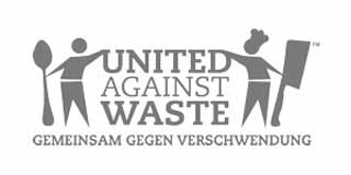 Logo United Against Waste Graustufen